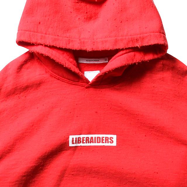 LIBERAIDERS LOGO PULLOVER HOODIE (RED) #71303