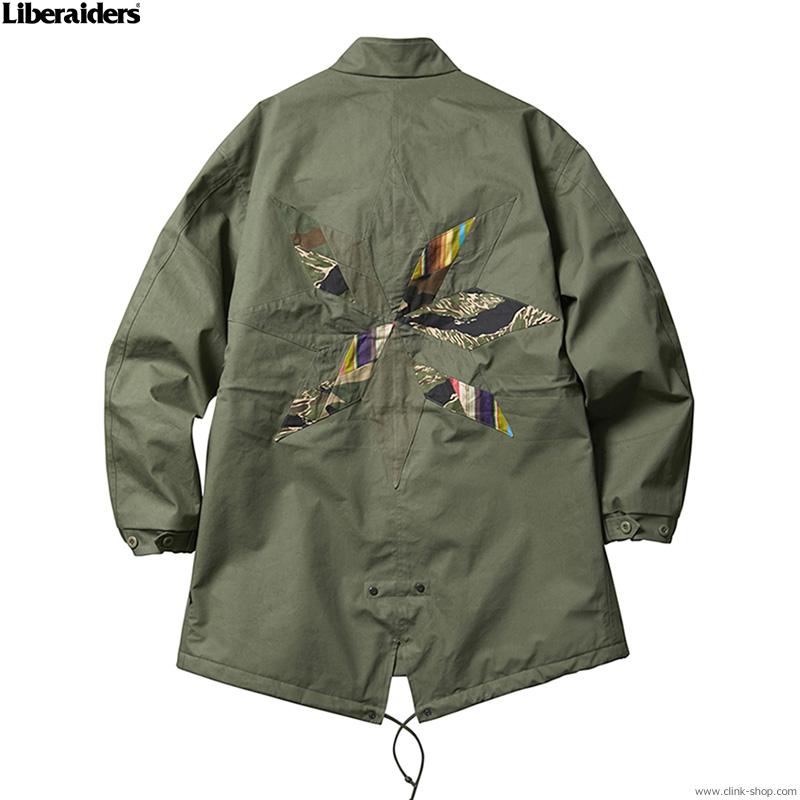 LIBERAIDERS 3LAYER FISH TAIL COAT (OLIVE) #74002