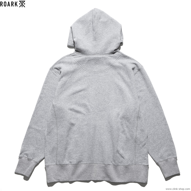"ROARK REVIVAL ""MEDIEVAL LOGO"" P/O HOODED SWEAT (HEATHER GREY)"