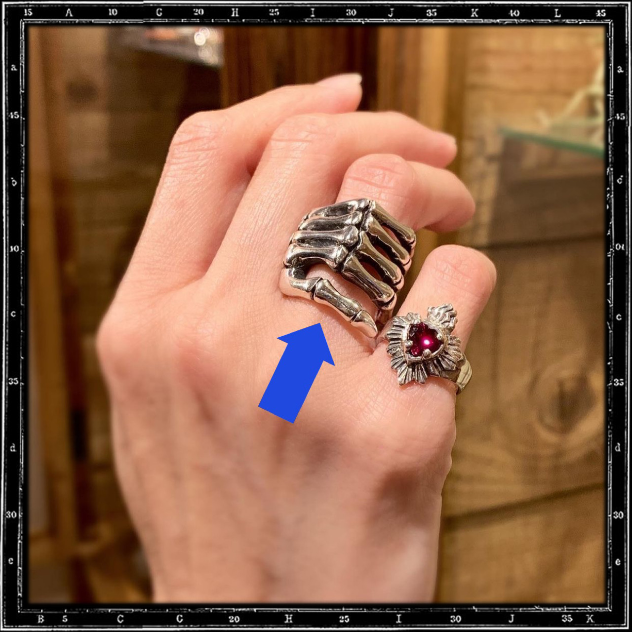 BONE HAND RING