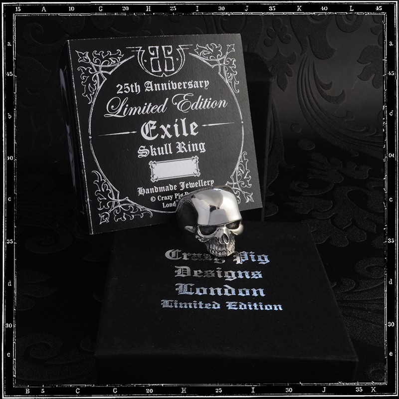 EXILE SKULL RING - 25TH ANNIVERSARY LIMITED EDITION