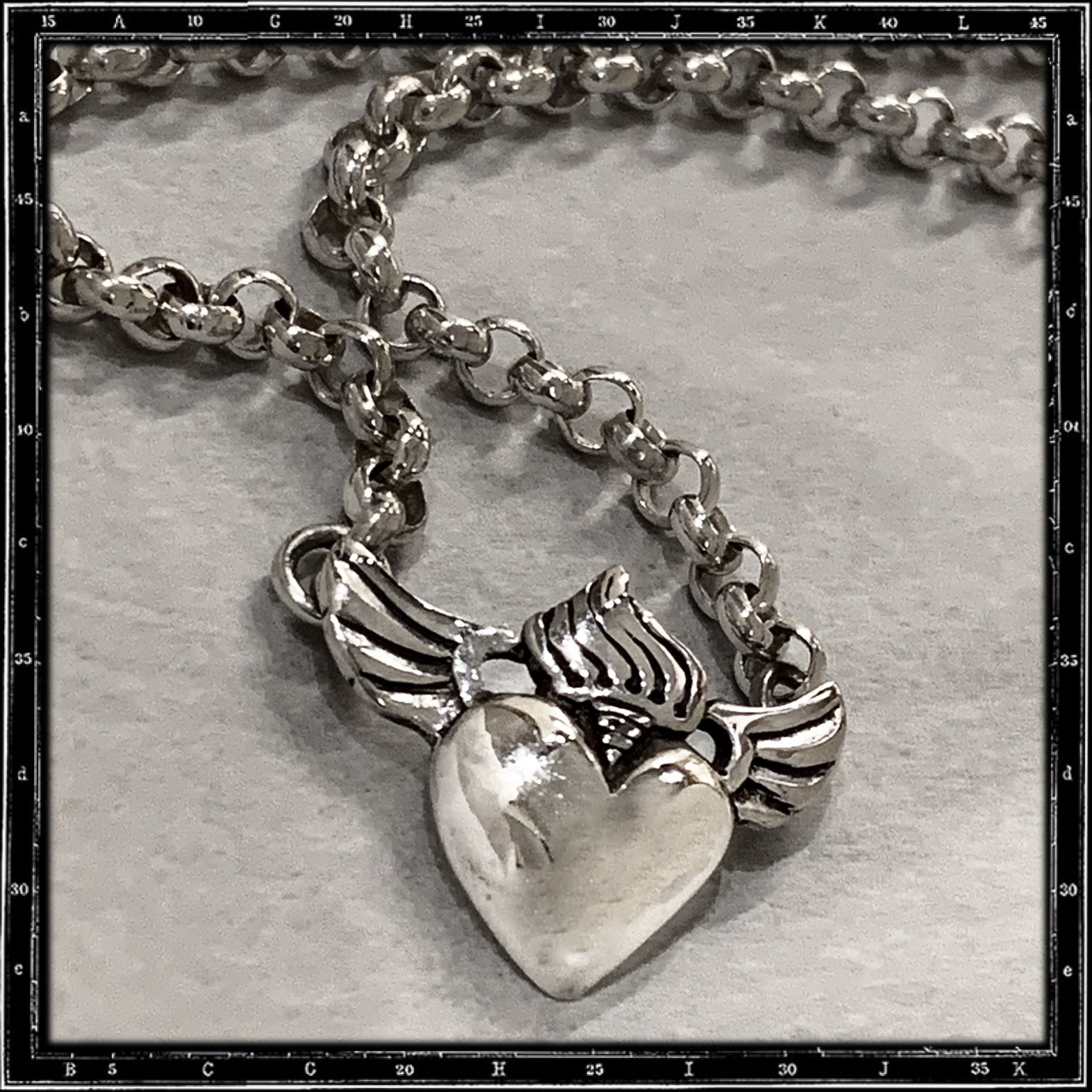 ROSARY HEART NECKLACE