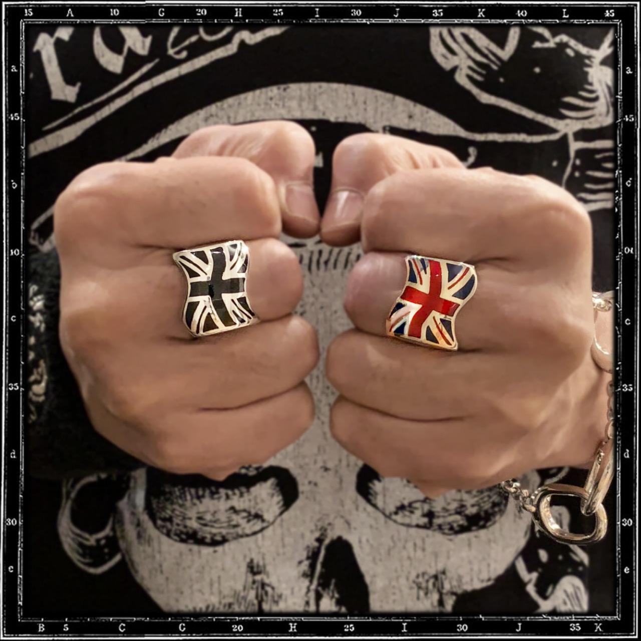 UNION JACK RING - RED & BLUE ENAMEL