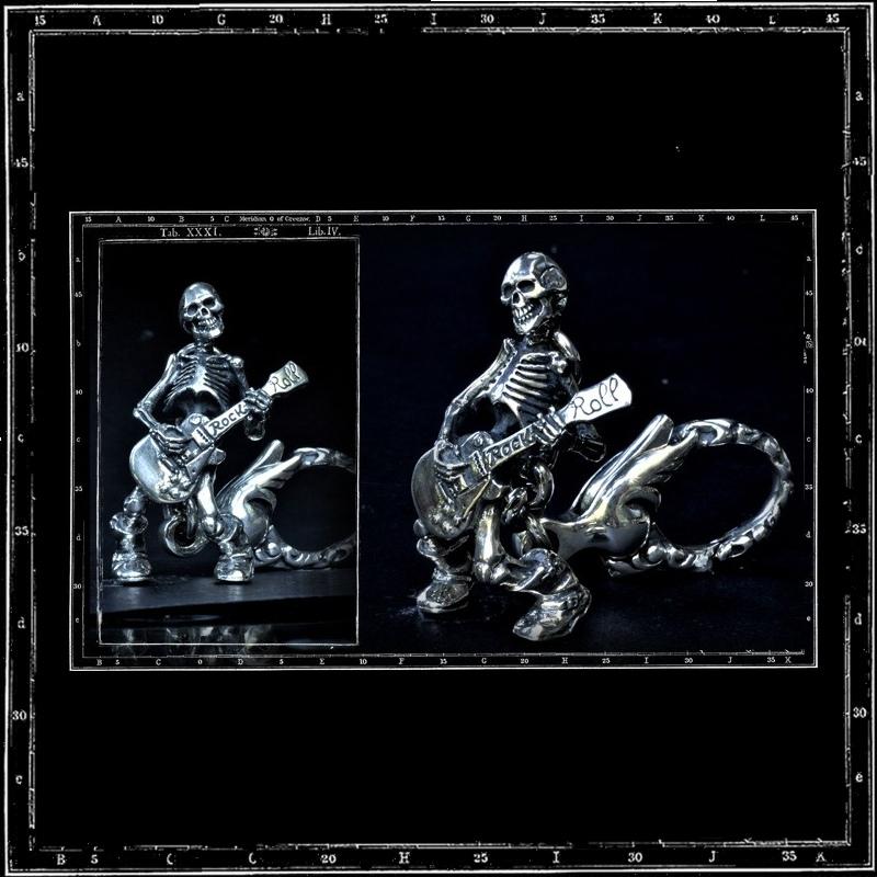 TILL DEATH / GUITAR SKELETON KEYRING