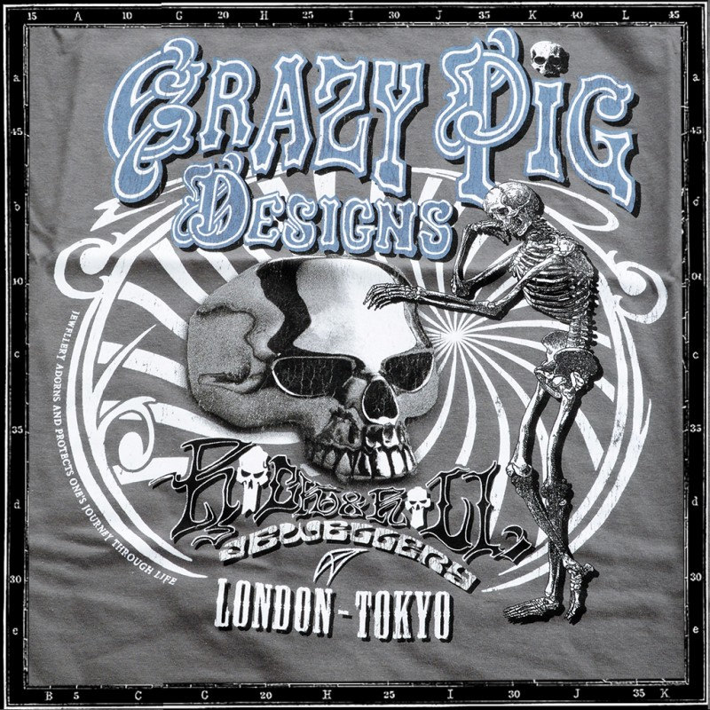 CRAZY PIG DESIGNS 1 YEAR TOKYO ANNIVERSARY T-SHIRT