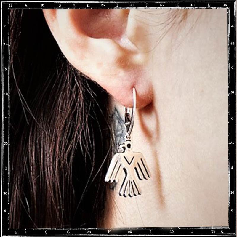 THUNDERBIRD HOOP EARRINGS