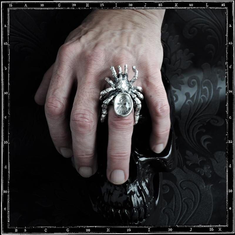 CRYSTAL TARANTULA RING