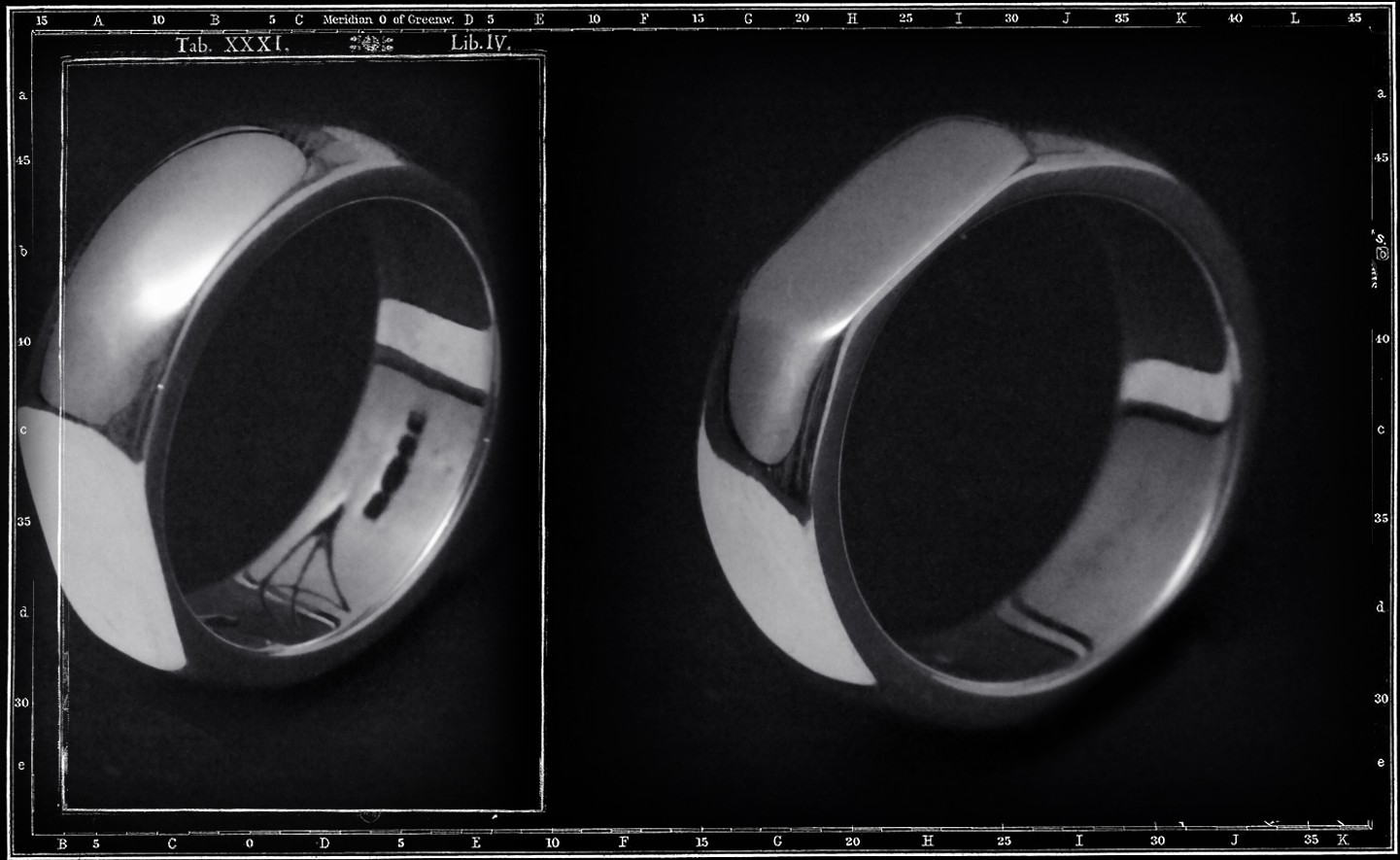 FLAT SIDED PLAIN BAND RING - LARGE / JP24 ONLY