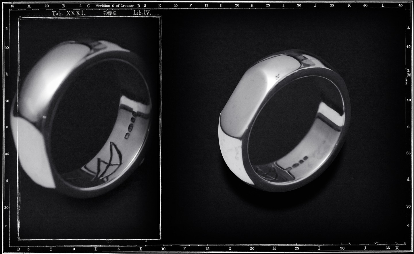 FLAT SIDED PLAIN BAND RING - SMALL / JP19 ONLY
