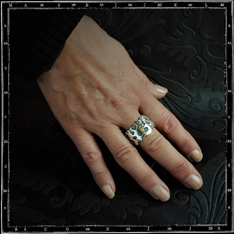 FLAMES BAND RING / JP20 ONLY
