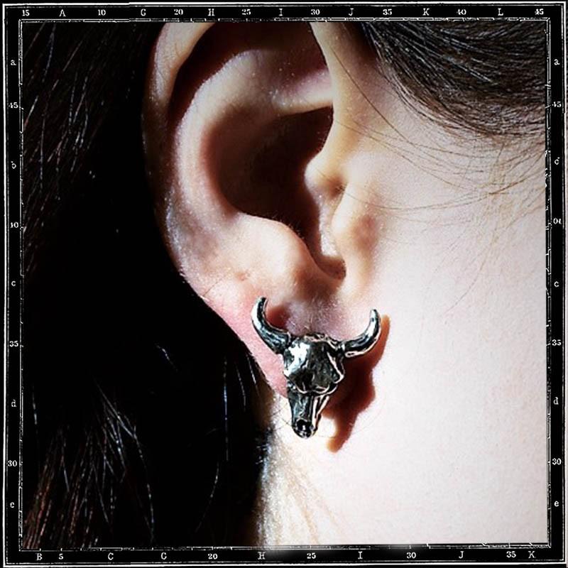 COW SKULL STUD EARRING