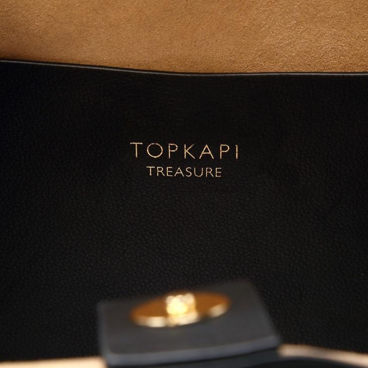 [トプカピ トレジャー] TOPKAPI TREASURE シュリンクレザー ベルトデザインA4トートバッグ