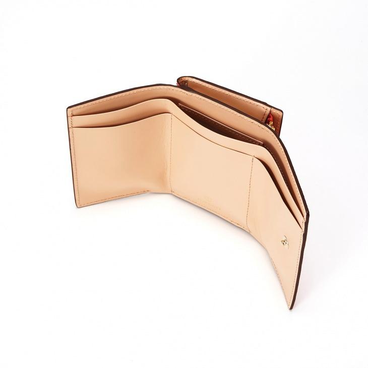 [トプカピ] TOPKAPI メッシュ柄型押し・三つ折り財布 RITMO リトモ