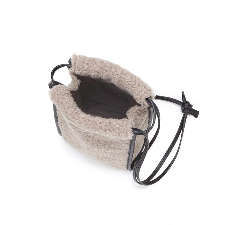 [トプカピ トレジャー] TOPKAPI TREASURE ボア 巾着 ワンショルダー バッグ