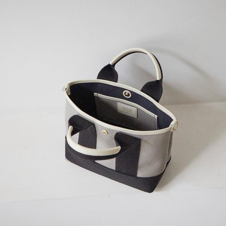 [トプカピ ブレス] TOPKAPI BREATH スコッチグレイン ネオレザー ミニ トート バッグ ショルダー付き S