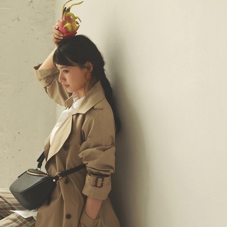 [トプカピ トレジャー] TOPKAPI TREASURE シュリンクレザー ラウンドファスナー ミニショルダーバッグ