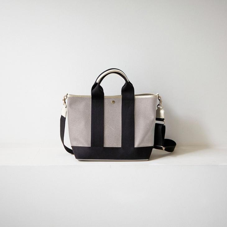 [トプカピ ブレス] TOPKAPI BREATH スコッチグレイン ネオレザー トート バッグ ショルダー付き M
