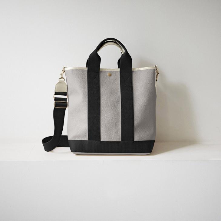 [トプカピ ブレス] TOPKAPI BREATH スコッチグレイン ネオレザー 縦型 A4 トート バッグ ショルダー付き L