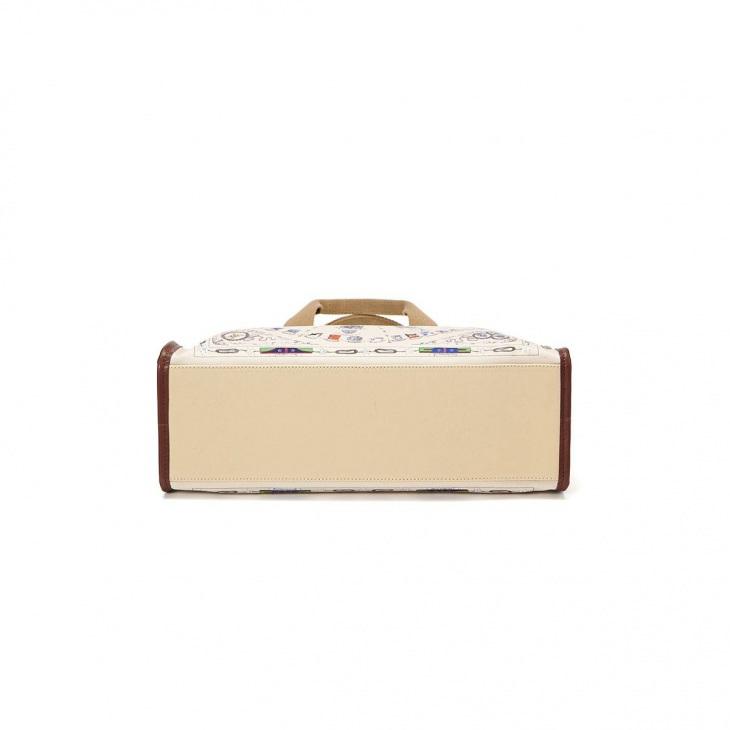 [トプカピ トレジャー] TOPKAPI TREASURE スカーフ パネル柄 マチあり トート バッグ
