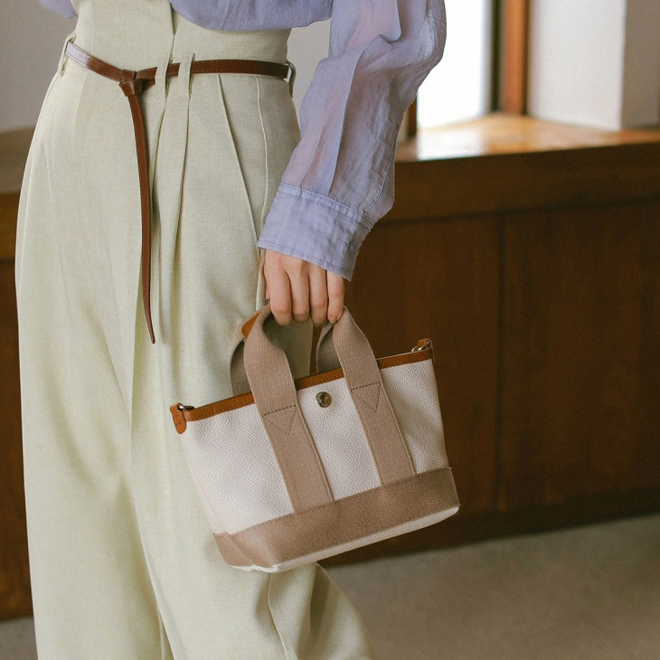 [トプカピ ブレス] TOPKAPI BREATH スコッチグレイン ネオレザー マイクロミニトートバッグ