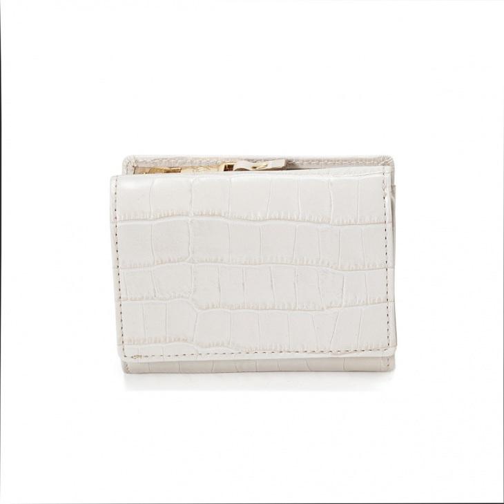 [トプカピ] TOPKAPI クロコ型押しレザー三つ折り財布 Cocco コッコ