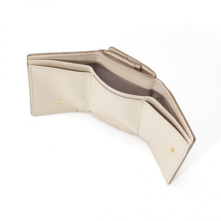 [トプカピ] TOPKAPI 角シボ型押し・三つ折りミニ財布 COLORATO コロラート