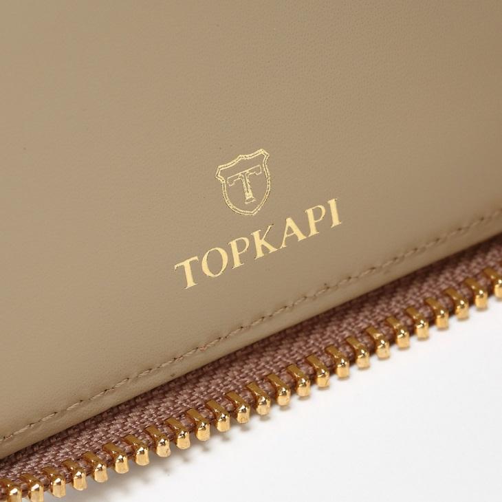 [トプカピ] TOPKAPI  エナメルラウンドファスナー二つ折り財布 Sparkle star
