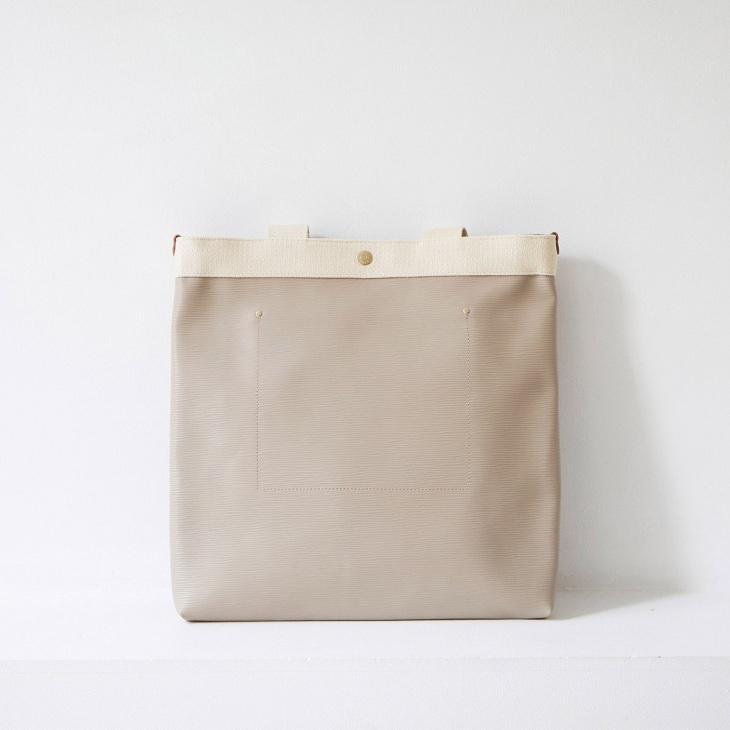 [トプカピ ブレス] TOPKAPI BREATH リプル ネオレザー ロングハンドル A4 トートバッグ スリム