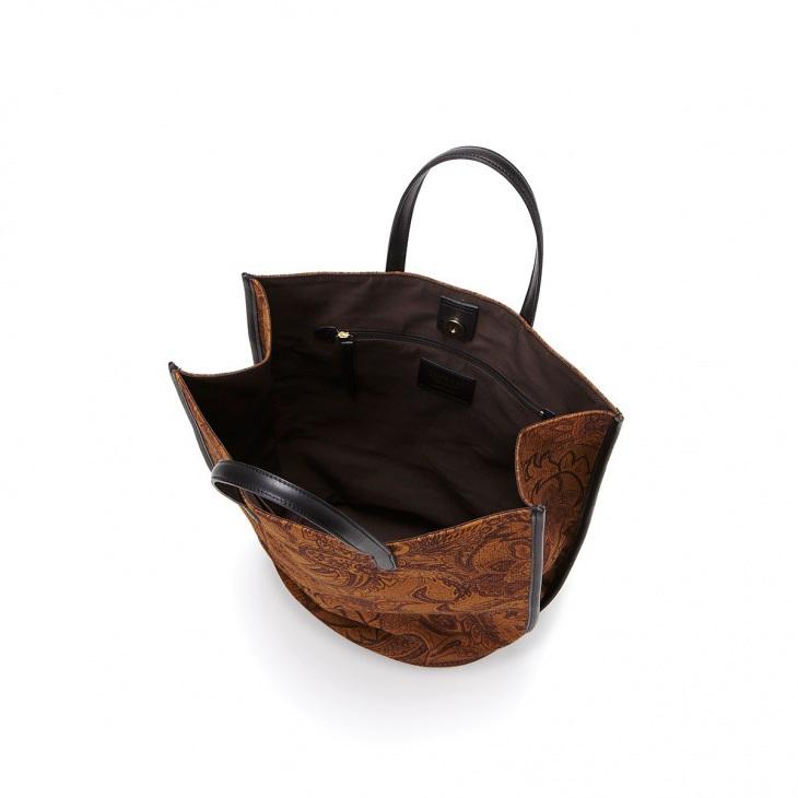 [トプカピ トレジャー] TOPKAPI TREASURE コーデュロイ調 プリントバケツ型トートバッグ
