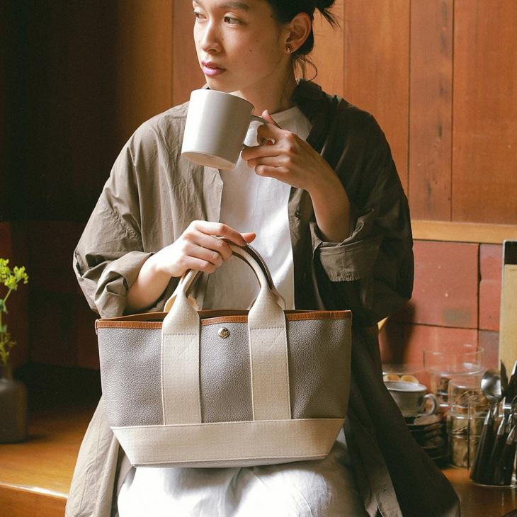 [トプカピ ブレス] TOPKAPI BREATH スコッチグレインネオレザー ミニトートバッグ
