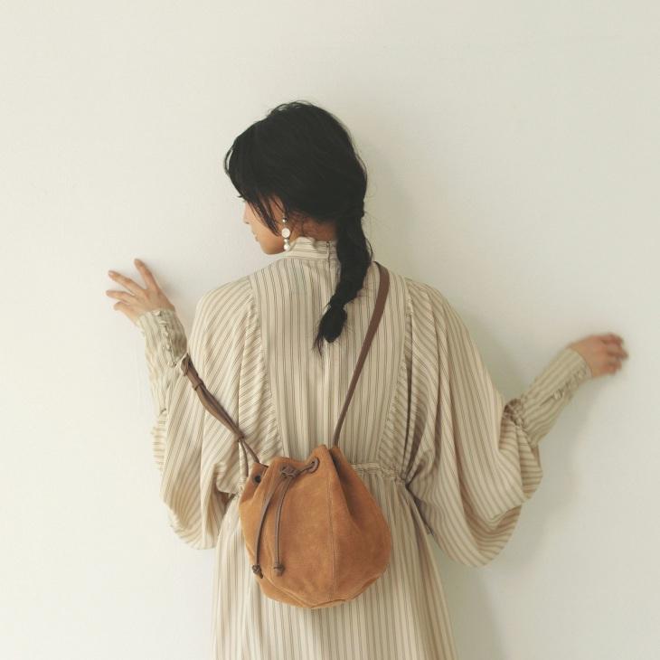 [トプカピ トレジャー] TOPKAPI TREASURE スエード 巾着 ショルダーバッグ