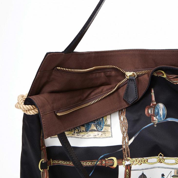 [トプカピ トレジャー] TOPKAPI TREASURE マイルドサテン スカーフ パネル柄 トートバッグ
