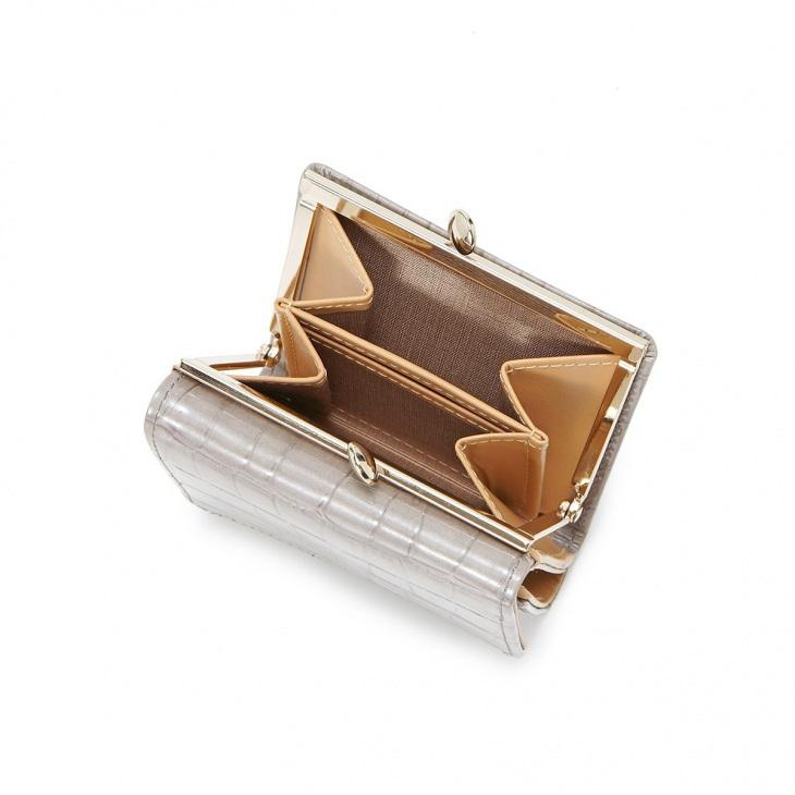 [トプカピ] TOPKAPI エナメルクロコ型押し・三つ折り財布 COCCO VERNICE コッコ ベルニーチェ