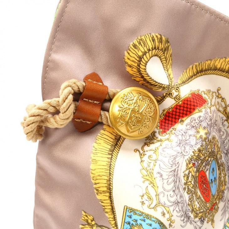 [トプカピ トレジャー] TOPKAPI TREASURE マイルドサテンスカーフパネル柄トートバッグ