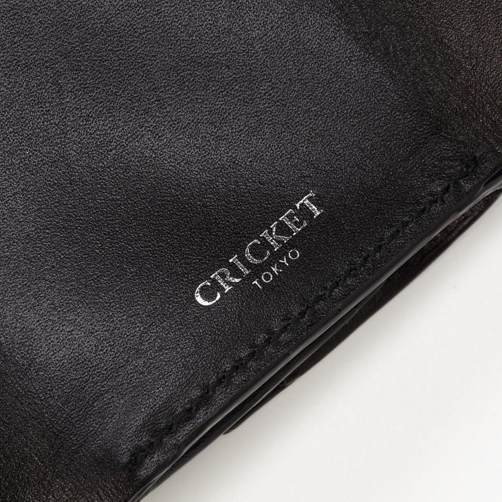 [クリケット] Cricket クロコ型押し マティスラックス 三つ折り ウォレット ブラック