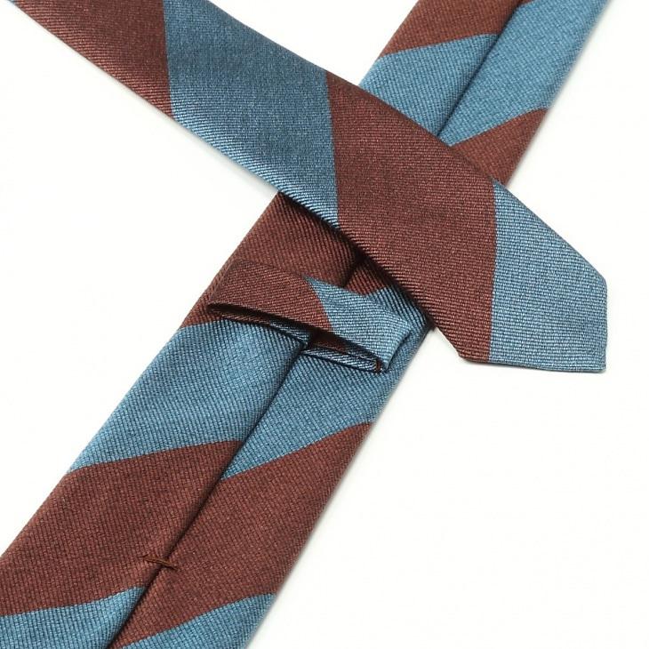 [ニッキー] Nicky レップ織り ストライプ柄 ネクタイ ブルー