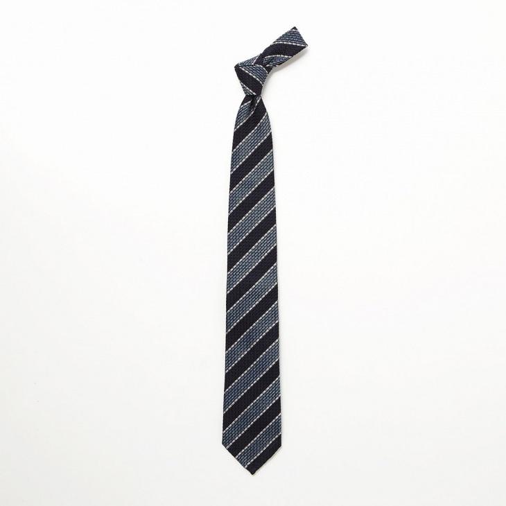 [クリケット] CRICKET フレスコ織りストライプ柄 ネクタイ コン