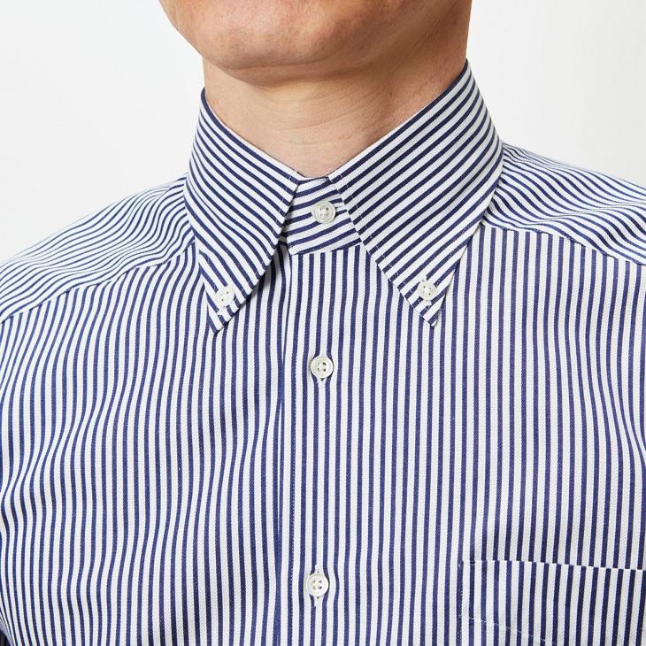 [クリケット] CRICKET イタリアンボタンダウンカラーシャツ 日本製 ブルー