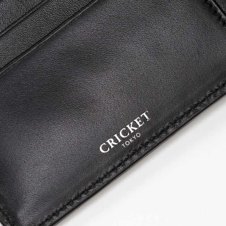 [クリケット] Cricket 水シボ型押し パルメラート 二つ折り ウォレット ブラック