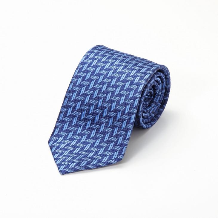 [クリケット] CRICKET 幾何学柄 ネクタイ ブルー