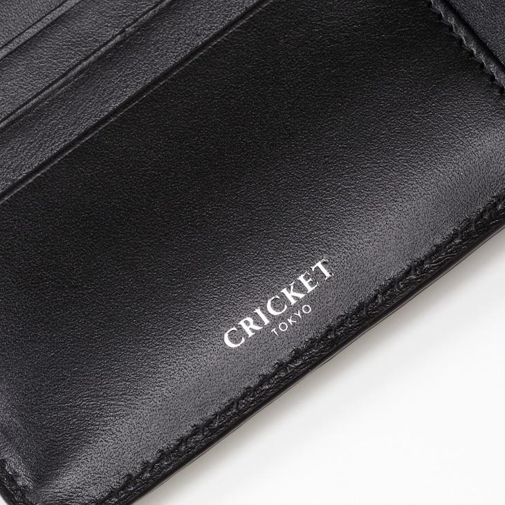 [クリケット] Cricket クロコ型押し マティスラックス 二つ折り ウォレット ブラック