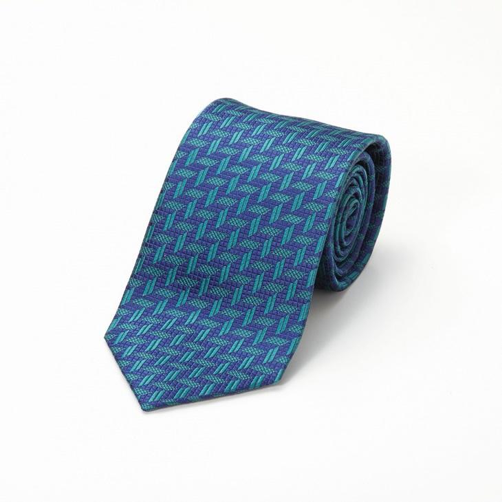 [クリケット] CRICKET 幾何学柄 ネクタイ グリーン