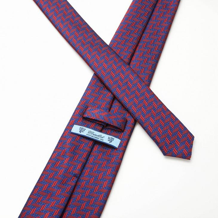 [クリケット] CRICKET 幾何学柄 ネクタイ レッド