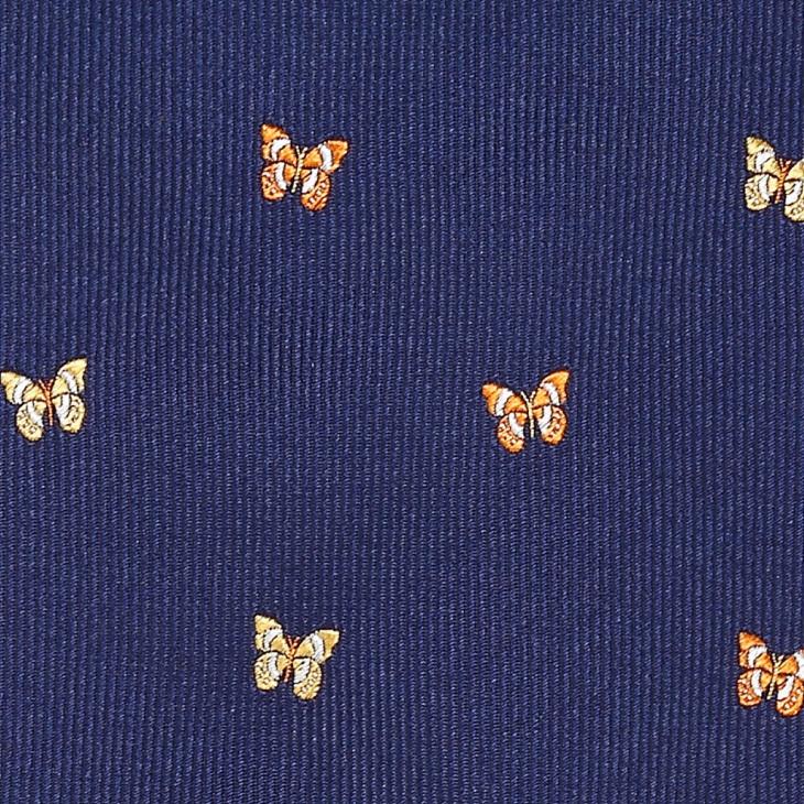 [クリケット] Cricket イタリア製生地 綾織り蝶柄蝶ネクタイ コン