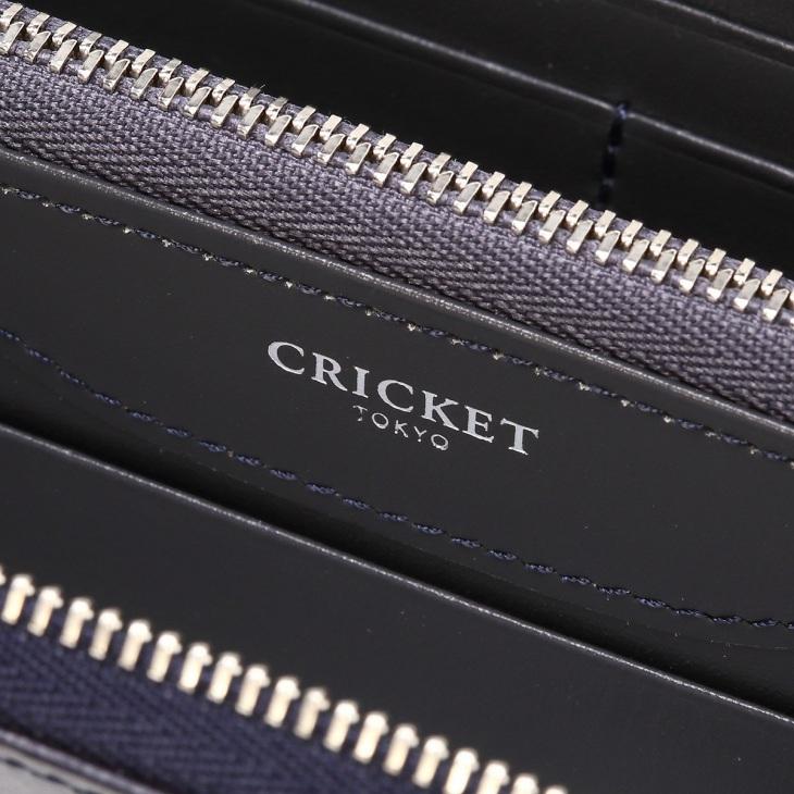 [クリケット] Cricket 水シボ型押し パルメラート ラウンドジップ ウォレット コン