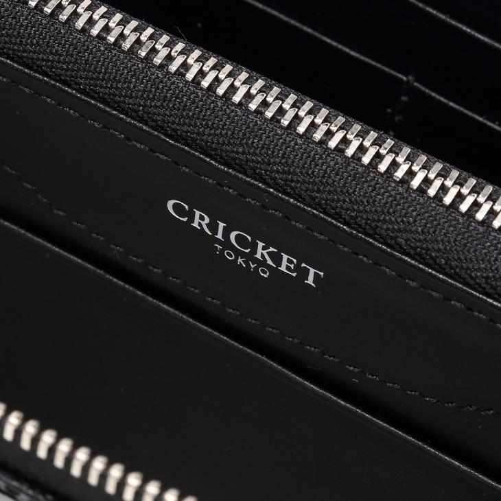 [クリケット] Cricket クロコ型押し マティスラックス ラウンドジップ ウォレット ブラック