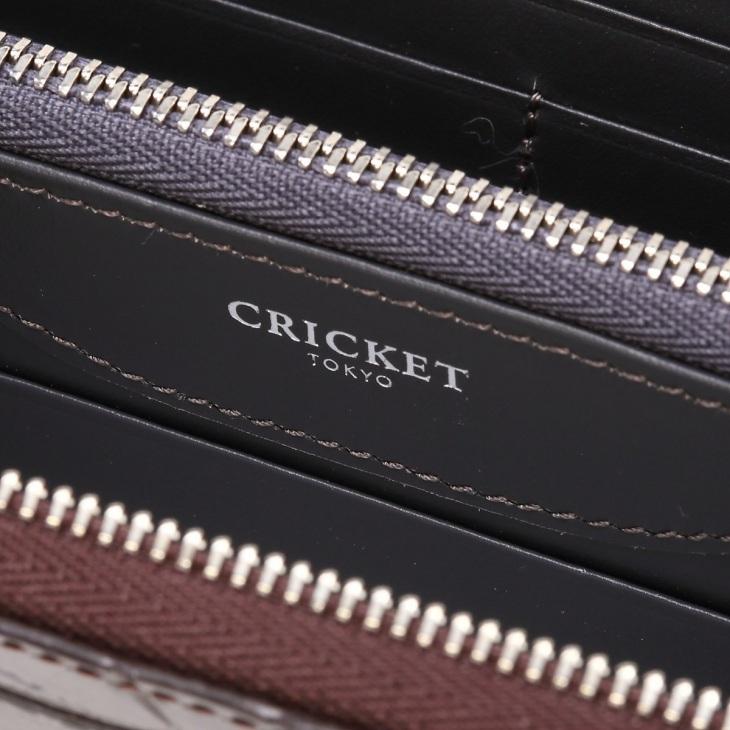 [クリケット] Cricket クロコ型押し マティスラックス ラウンドジップ ウォレット グレージュ