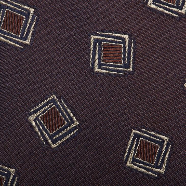 [クリケット1960] Cricket 1960 イタリア製生地 ヴィンテージ調小紋柄 ネクタイ コゲチャ