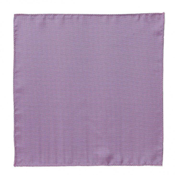 [クリケット] Cricket イタリア製生地 プリントマイクロ柄ポケットチーフ ピンク