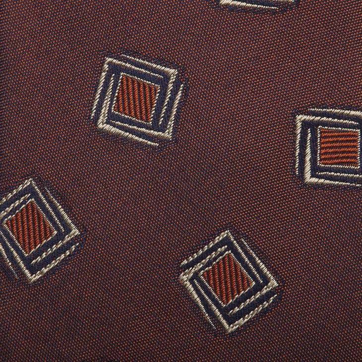 [クリケット1960] Cricket 1960 イタリア製生地 ヴィンテージ調小紋柄 ネクタイ アカチャ